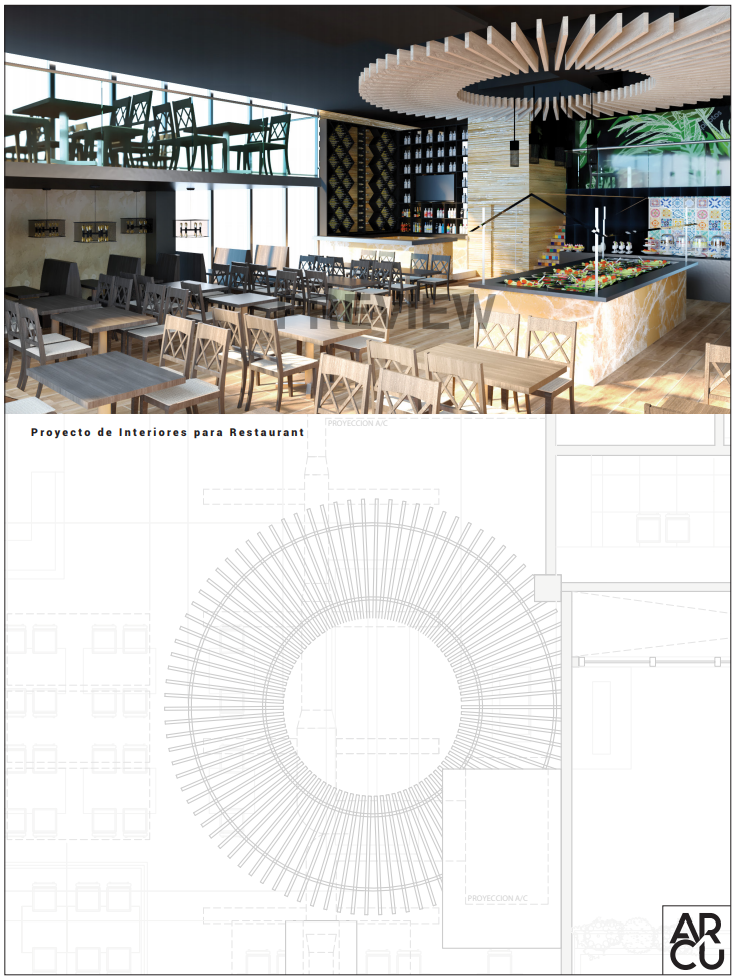 Arcu, Proyecto Restaurant